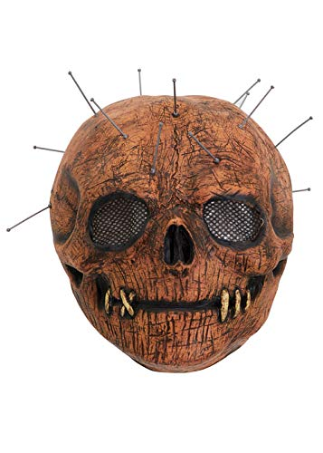 Halloween gruselige Voodoo-Puppe Schädel Maske mit Pins (Gruselige Puppen Für Halloween)