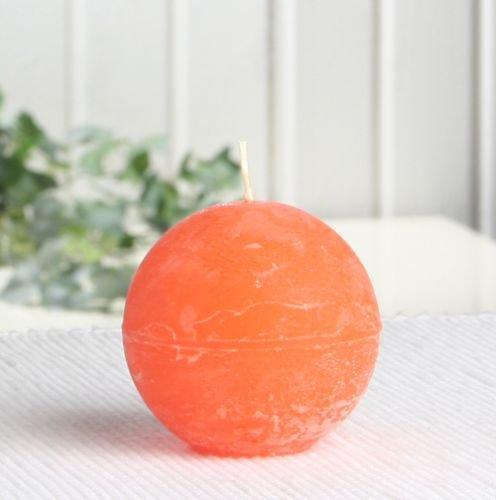 Rustik-Kugelkerze, 6 cm Ø, mandarin-orange