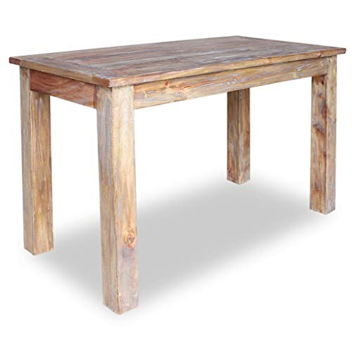 Festnight Esszimmertisch Esstisch Küchen Tisch Recyceltes Massivholz Handgefertigt Esszimmer Holztisch 120 x 60 x 77 cm - Altholz Tisch
