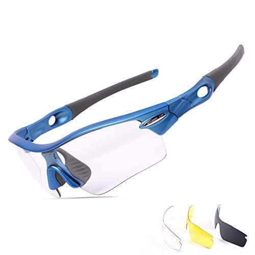 93e2138196 Gafas de ciclismo polarizadas con 3 lentes a prueba de arena para mujer y  hombre