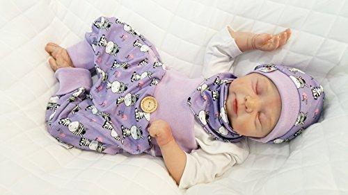 Atelier MiaMia - Pumphose oder Set Baby Kind von 50, 56, 62, 68, 74, 80, 86, 92, Designer Babyhose Set Limitiert !! Zebra Zebra Beanie Baby