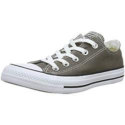 Converse Chuck Taylor All Star Season Ox, Zapatillas de Tela Unisex Adulto, Gris, 44.5 EU