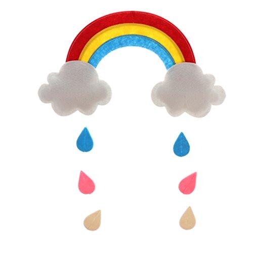 Mond Wolke Hängende Dekoration für Kinderspielzelt Spielschloss Spielzelt Deko - Weiß, Regenbogen (Hängende Regenbogen-dekoration)