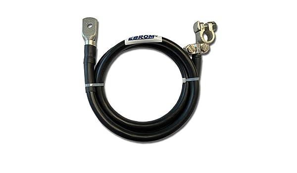 ab 30 cm bis 2 Meter 50 mm/² schwarz KFZ Massekabel mit Polklemme Schrumpfschlauch fertig konfektioniert Ring/ösen//Kabelschuhe M6//M8//M10//M12//ohne - - Anschluss links 50mm2 EBROM Batteriekabel