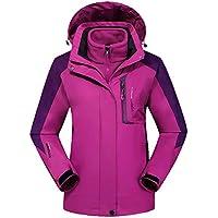 Hombre Mujer Softshell Chaquetas 3 en 1 Montaña de Invierno Abrigo Impermeable Chaqueta de Acampada y