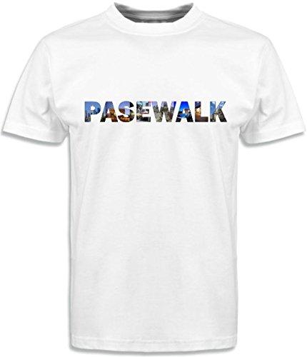 T-Shirt mit Städtenamen Pasewalk Weiß