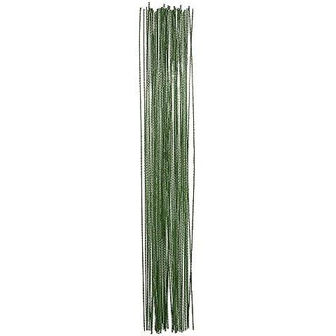 eBoot 100 Pezzi Fiori Fioristi Decorativi Stelo Filo 26 Calibro (0,5 mm) 14 Pollici, Verde Scuro