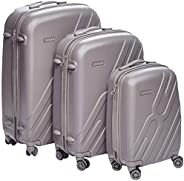 Titan light weight Hardshell Spinner Luggage 100% polypropylene with TSA Lock, set of 3pcs black