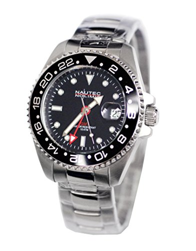 Nautec No Limit Men's Watch Jackfish JKFS-QZ-GMT-STSTBKBK