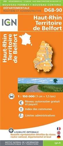 D68-90 HAUT-RHIN/TERRITOIRE-DE-BELFORT  1/200.000
