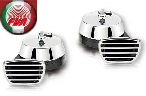 Fanfare Zweiklang Elektro chrom 112 dB Markenware FISA zugelassen !