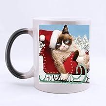 Mensuk grumpy cat's worst christmas ever Custom Morphing Mug Coffee Cup