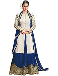 VIHA Women's Rayon Cotton Embroidered Dress Material