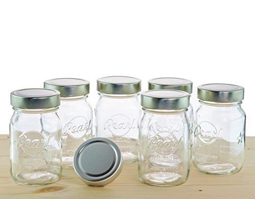 Pearl Mason Twist-Off-Gläser, Vorratsgläser | 6er-SET | 500ml | inkl. Twist-Off Verschluss (silber) (Twist-verschluss)
