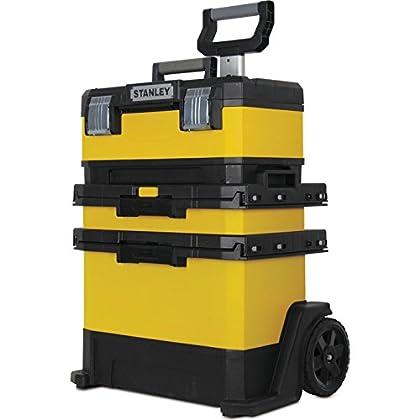 Advanced Stanley Rolling Metal y plástico taller caja de herramientas con ruedas amarillo [unidades de 1]--