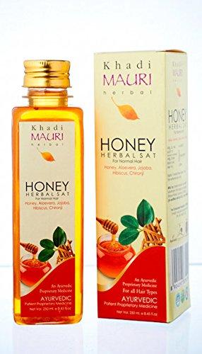 KHADI Honey Shampoo- 250 ml - Herbal Hair Care- Enriched with Aloe Vera & Jojoba  available at amazon for Rs.205