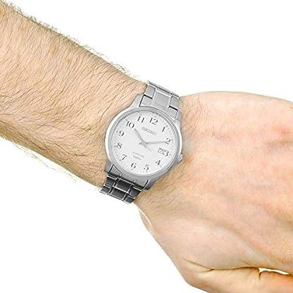 Seiko Reloj Analógico para Hombre de Cuarzo con Correa en Acero Inoxidable SGEH67P1