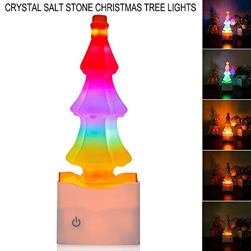 Weihnachten Steinsalz Lampe Stufenlos Dimmen USB Ionen Luftreinigung Bunte Umwandlung Licht für Schlafzimmer Tischlampe Schlafen Led Nachtlicht