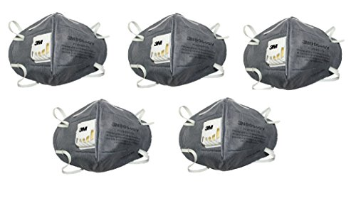 3M CL-9004V_5 Anti Pollution Mask, Pack of 5, Grey