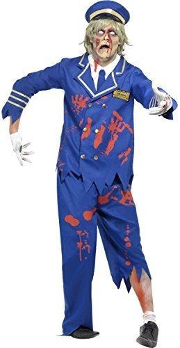 ie Kapitän Piloten Leichnam Halloween Kostüm Kleid Outfit - Blau, Large/42-44