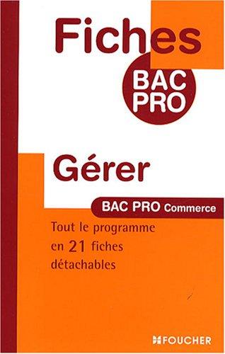 Gérer Bac Pro Commerce