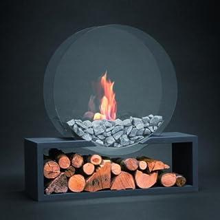 ALFRA Feuer - Standkamin Julilus rund DIN im Glasdesign - Ethanol Kamin