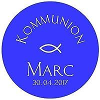 24 Aufkleber Etiketten Sticker Selbstklebend Kommunion Konfirmation Taufe