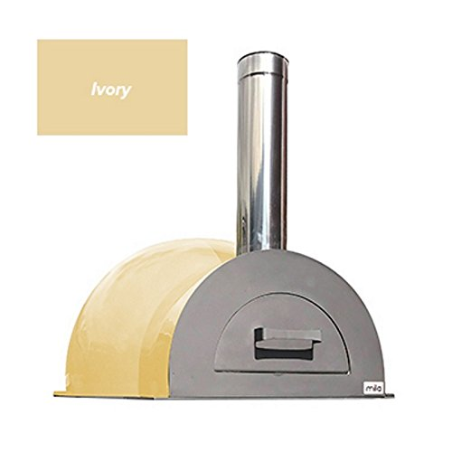 Easy to Build Mila 60 DIY Outdoor Wood Fired Pizza Oven Kit with a Ivory Coloured Composite Shell