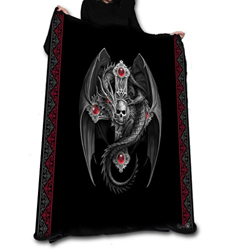 GOTHIC DRAGON Fleece Decke / Wurf /