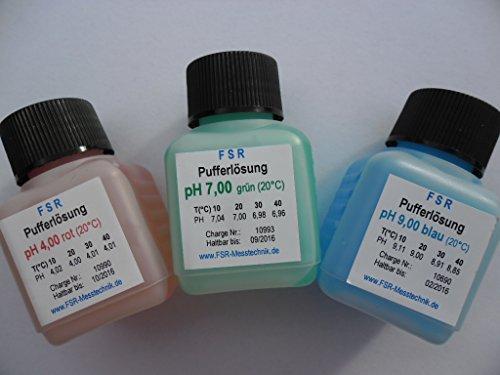 pH 4 pH 7 pH 9 Kalibrierflüssigkeit Pufferlösung Eichlösung pH Messgerät Tester (Ph-kalibrierflüssigkeit)