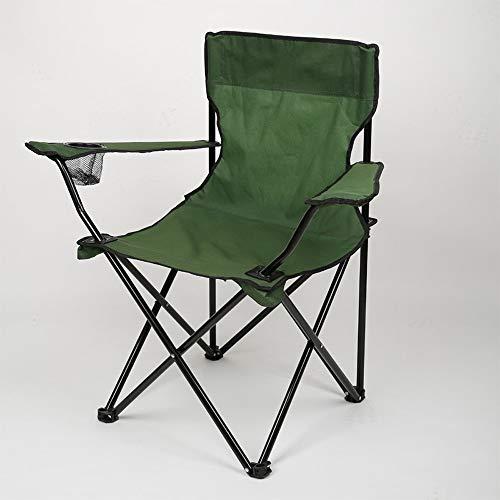 Easty Outdoor-Freizeit Sitzer Klapp Angeln/Camping Stuhl mit Tragetasche Klapp Camping Stuhl Leichte tragbare Festival Angeln Outdoor-Reise Sitz Heavy Duty High Back Directors Seat (Color : Green)