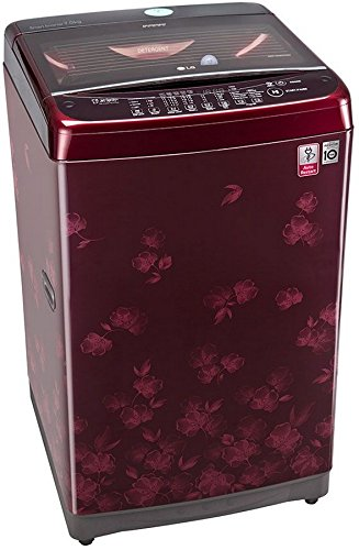 LG 7 kg Fully-Automatic Top Loading Washing Machine (T8077NEDLX, Dark Red)