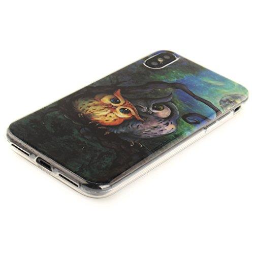 "Hülle für Apple iPhone X , IJIA Verrückt (DON'T TOUCH MY PHONE) TPU Weich Silikon Stoßkasten Cover Handyhülle Schutzhülle Bumper Handytasche Schale Case Tasche für Apple iPhone X (5.8"") TX28"