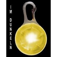 PRECORN Pendiente luminoso LED en amarillo para perros, gatas, arnés para perros Collar Luminoso