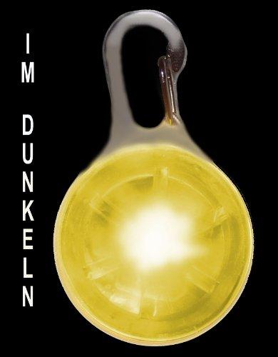 Pendiente luminoso del LED incl. Bateria para perros, gatos, mascotas | LED pendiente de perros en amarillo NUEVO de la marca PRECORN