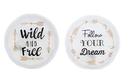 MC-Trend 2er Set Handwärmer Taschenwärmer mit Sprüchen - Follow Your Dreams - Wild and Free -...