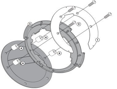 Givi BF11 Tankbefestigung Tanklock Tankrucksäcke, Tankdeckel mit 6 Schrauben