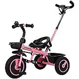 Fascol Triciclo con Mango Trike Smart Bici para Niños, 18 Meses a 5 Años,hasta 30kg,Rosa