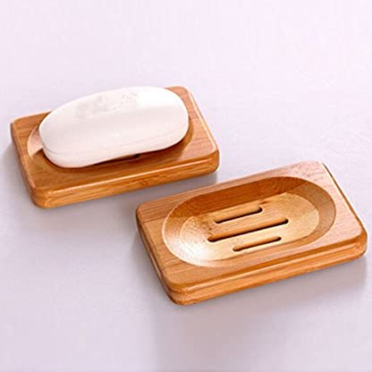 Laat jabonera de madera bambú jabón Soap caja 1pc