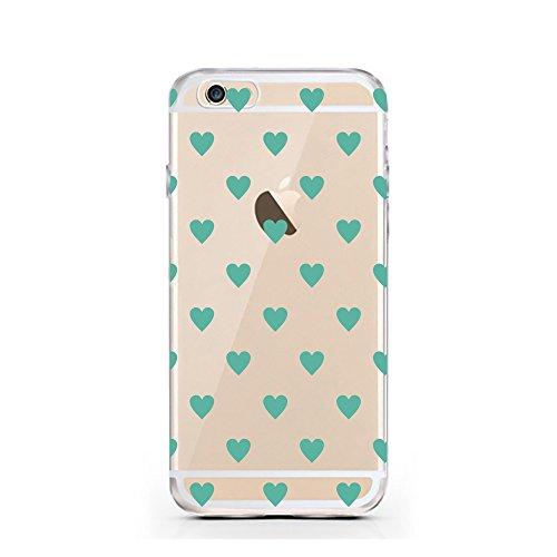 iPhone 7 Hülle von licaso® für das Apple iPhone 7 aus TPU Silikon Panda 2 Panda-Bär Schwarz Weiß Bärchen Muster ultra-dünn schützt Dein iPhone 7 & ist stylisch Case Design Schutzhülle Bumper in einem  Green Heart