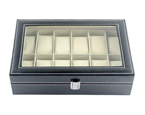 530a01de9f2c Feibrand Caja Para Relojes Piel Sintética 12 Compartimentos