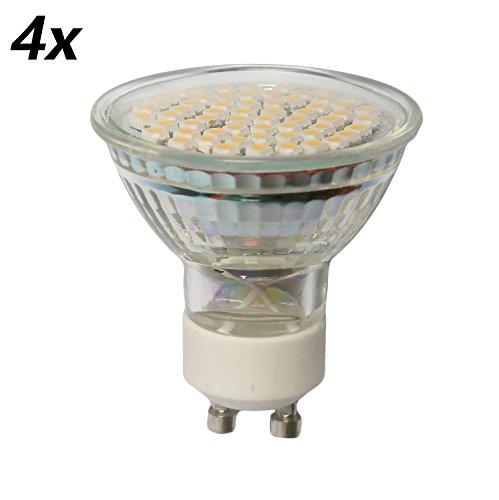 4x GU10 LED Lampe Warmweiß 3W 230V 230lm ersetzt ca. 25W