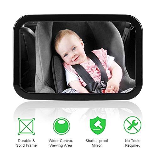 Yhomie Rétroviseur Surveillance pour Bébé Miroir Auto de Voiture pour Bébé, Rétroviseur Sécurité Pour Siège Arrière Rotation 360° & Fonction d'Inclinaison