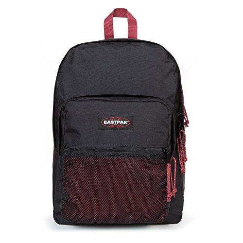 Eastpak Pinnacle Sac à dos, 42 cm, 38 L, Noir (Black-Red)