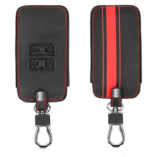 kwmobile Autoschlüssel Hülle für Renault - Kunstleder Schutzhülle Schlüsselhülle Cover für Renault 4-Tasten Smartkey Autoschlüssel (nur Keyless Go)