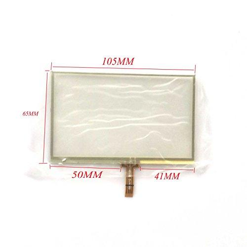 EUTOPING ® Transparente Farbe 4.3 Zoll Touchscreen - digitizer Alternative für Garmin Nuvi 765 765T GPS 765t 4.3