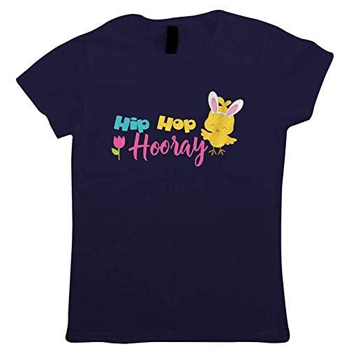 �fte Hurra Easter Chick Damen T-Shirt Osterhase Ei Chick Schokolade Motorhaube Parade Korb Band Trail Hot Kreuz Bun New Life Oster Geschenk Sie Mum - Marineblau, X Small (6) ()
