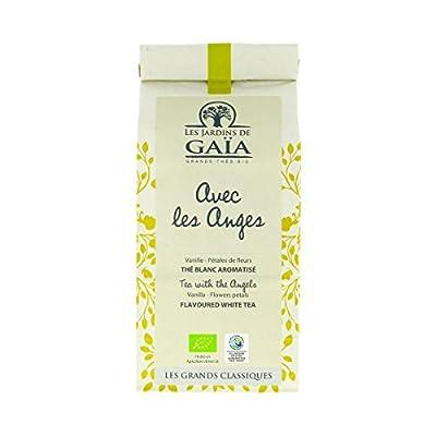"""Les Jardins De Gaia - Thé blanc vanille """"Avec les Anges"""" 100G Bio - Prix Unitaire - Livraison Gratuit Sous 3 Jours"""