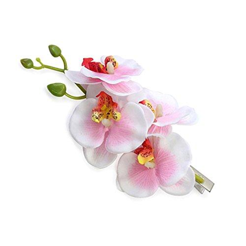 haresle Frauen Mädchen Hawaii Blume Haar Clip handgefertigt Blume Orchidee Haarspange