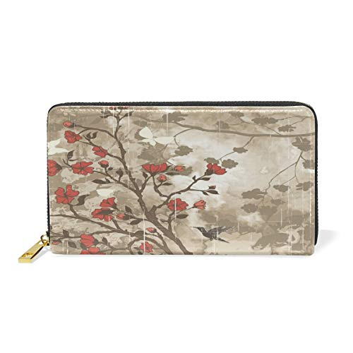 Agoyls Geldbörse Portemonnaie Wallet for Women,Cute Kawaii Collection Genuine Leather Bifold Clutch Purse with Card Holder/Zipper Pocket for Coin/Phone Bag for Ladies
